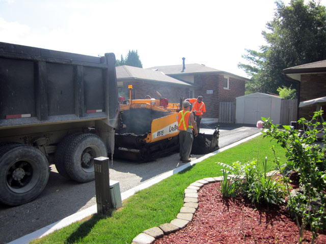 Burlington paving trucks